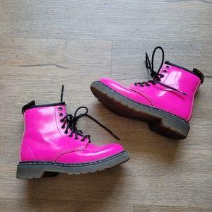 Dr martens Delaney hot pink combat boots